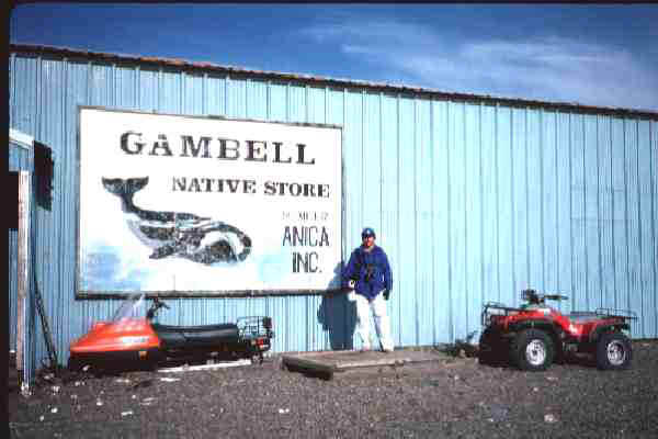 The one-and-only store - Gambell Native Store (me in 1990)