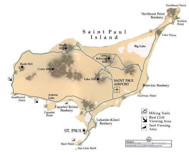 St Paul Island Alaska Map